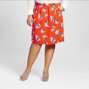 NWT Ava & Vic 4X floral skirt